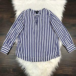 9960d0a9a2 J. Crew Tops | J Crew Petite Tunic Bold Stripe Cotton Poplin Top ...
